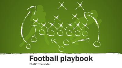 football playbook a powerpoint template from. Black Bedroom Furniture Sets. Home Design Ideas