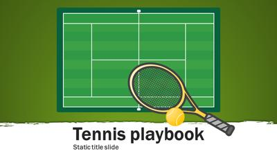 tennis playbook a powerpoint template from. Black Bedroom Furniture Sets. Home Design Ideas
