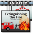 Extinguishing The Fire PowerPoint Template
