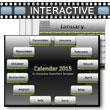 Calendar Interactive 2015 PowerPoint Template