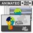 Light Bulb Puzzle Pieces PowerPoint Template