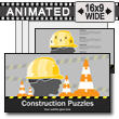 Construction Puzzles PowerPoint Template