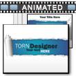 Torn Designer PowerPoint Template