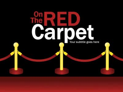 On The Red Carpet A Powerpoint Template From