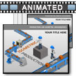 Production Line Isometrics PowerPoint Template