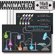 Mixing The Formulas Chemistry PowerPoint Template