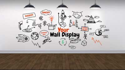 Your wall display a business and finance powerpoint - Photo wall display template ...
