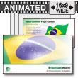 Brazilian Flag Wave PowerPoint Template