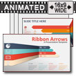 Ribbon Arrows Compare  PowerPoint Template