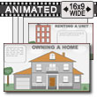 Renting / Owning Infographics PowerPoint Template