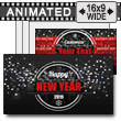 Black Blur New Year's PowerPoint Template