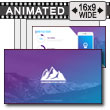 Gradient Mountains PowerPoint Template