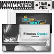 Fitness Quote PowerPoint Template