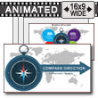 Compass Direction PowerPoint Template