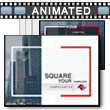 Square Stock PowerPoint Template