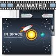 Rocket In Space PowerPoint Template