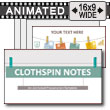 Clothespin Notes PowerPoint Template