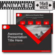 Red Grey Ribbon PowerPoint Template