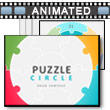Puzzle Circle PowerPoint Template