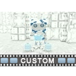 Boxy Robot Interface Video Background