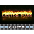 Custom Burning Fire Text Video Background