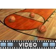 Basketballs Fall On Court Video Background