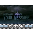 Custom Text On Stormy Waters Video Background