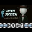 Stick Figure Magic Wand Custom Video Background