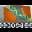 Aligned Fragments Custom Video Background