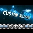 Glimmer Spiral Text Video Background