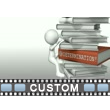 Figure Climbing Custom Book Stack Video Background