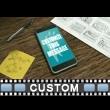 Swiping Phone Screens Custom Video Background