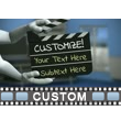 Hands Holding Clapboard Custom Video Background