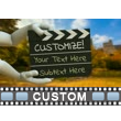 Hands Hold Out Clapboard Custom Video Background