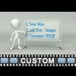Figure Presenting Custom Board Video Background