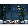 Witch Riding Broom Woods Video Background