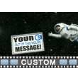 Astronaut Chasing Custom Sign Video Background