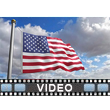 American Flag Blowing Video Background