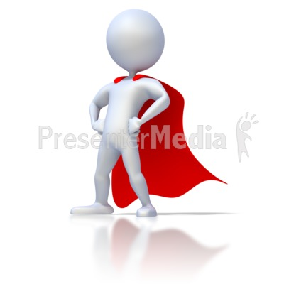 Clipart: Super Hero with red cape