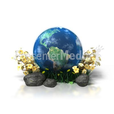 Planet Earth in Flowers Presentation clipart