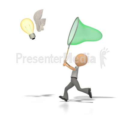 Catch An Idea  Presentation clipart