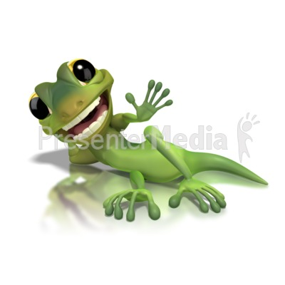 Gecko Lying Down  Presentation clipart