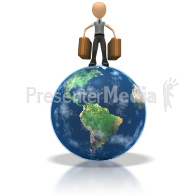 Tourist On Globe  Presentation clipart