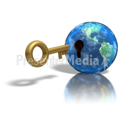 Large Key Insert Earth Hole Presentation clipart