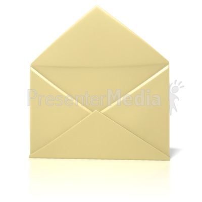 Envelope Open Plain  Presentation clipart