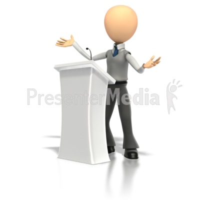 Speech Podium   Presentation clipart