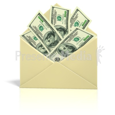 Envelope Money   Presentation clipart