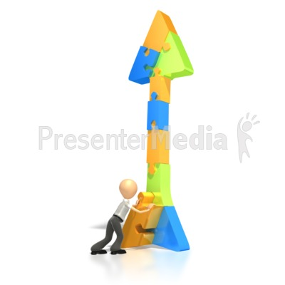 Puzzle Arrow Finish Presentation clipart