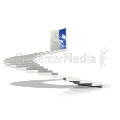 Stairs Spiral To Sky  Presentation clipart