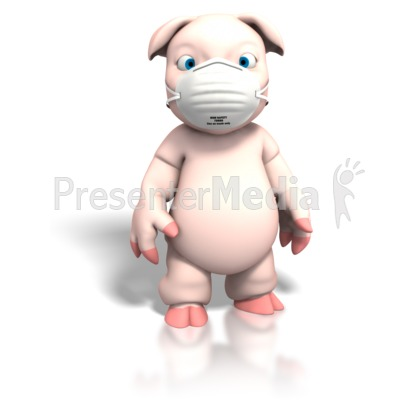 Pig With Protective Mask Presentation clipart